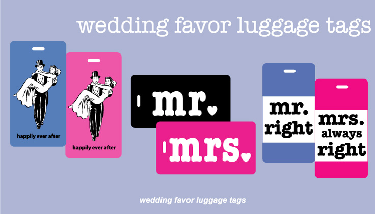 Wedding Favor Luggage Tags